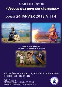 CONFERENCE-CONCERT LE 24 JANVIER 2015