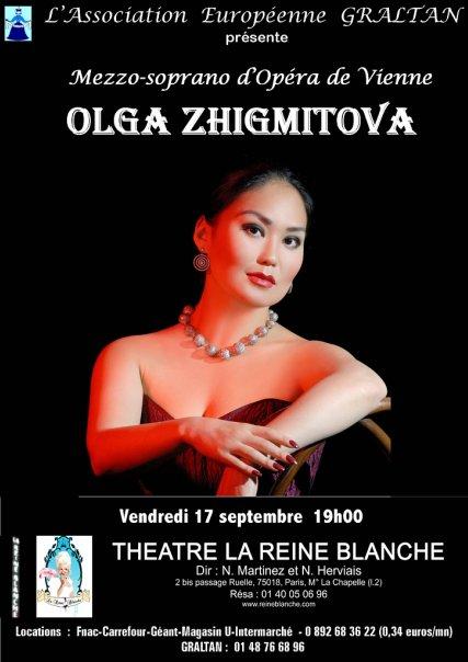 афиша концерта Жигмитовой в Париже. сентябрь 2010