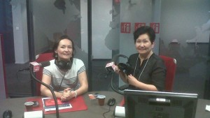 даем интервью на Radio-France