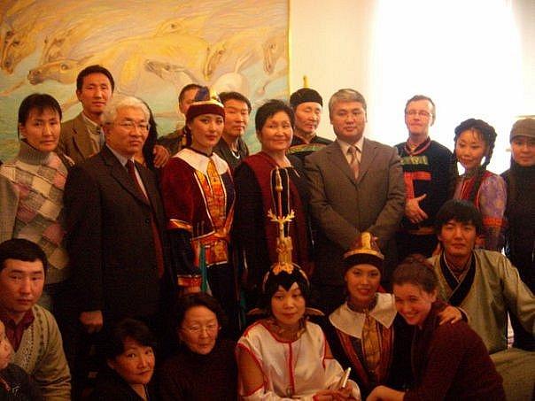 прием в монгольском посольстве во время бурятского фестиваля
